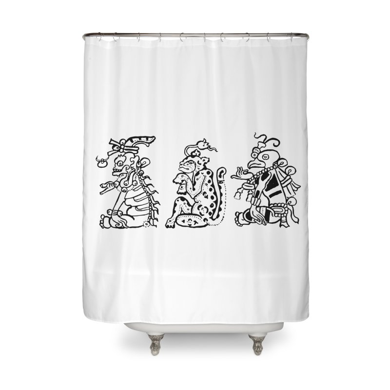 Mayan Figures Home Shower Curtain by Art On Everything