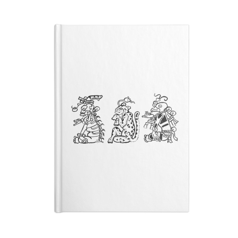 Mayan Figures Accessories Notebook by Art On Everything