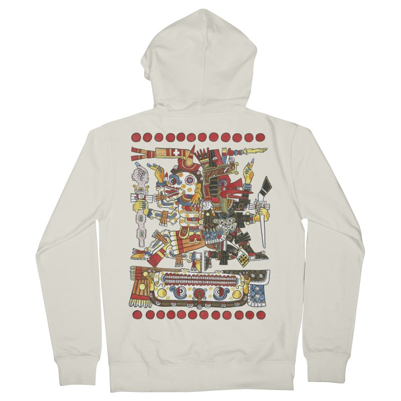 Codex Borgia Detail Women's French Terry Zip-Up Hoody by Art On Everything