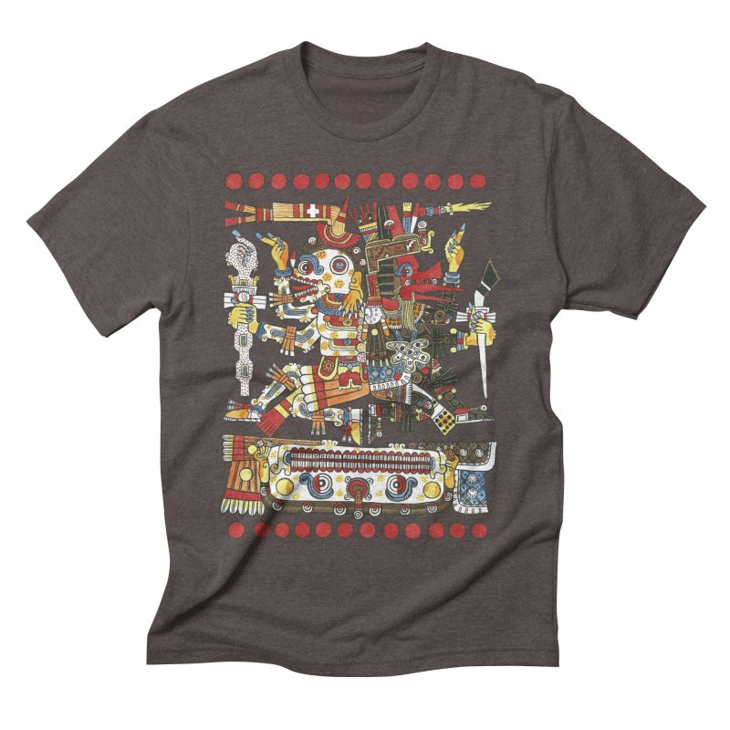 Codex Borgia Detail Men's Triblend T-Shirt by Art On Everything