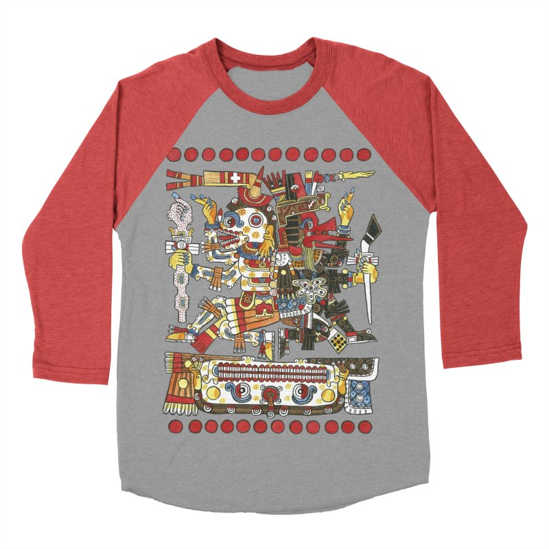 Codex Borgia Detail Men's Baseball Triblend T-Shirt by Art On Everything