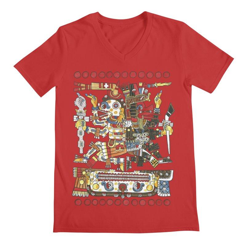 Codex Borgia Detail Men's Regular V-Neck by Art On Everything