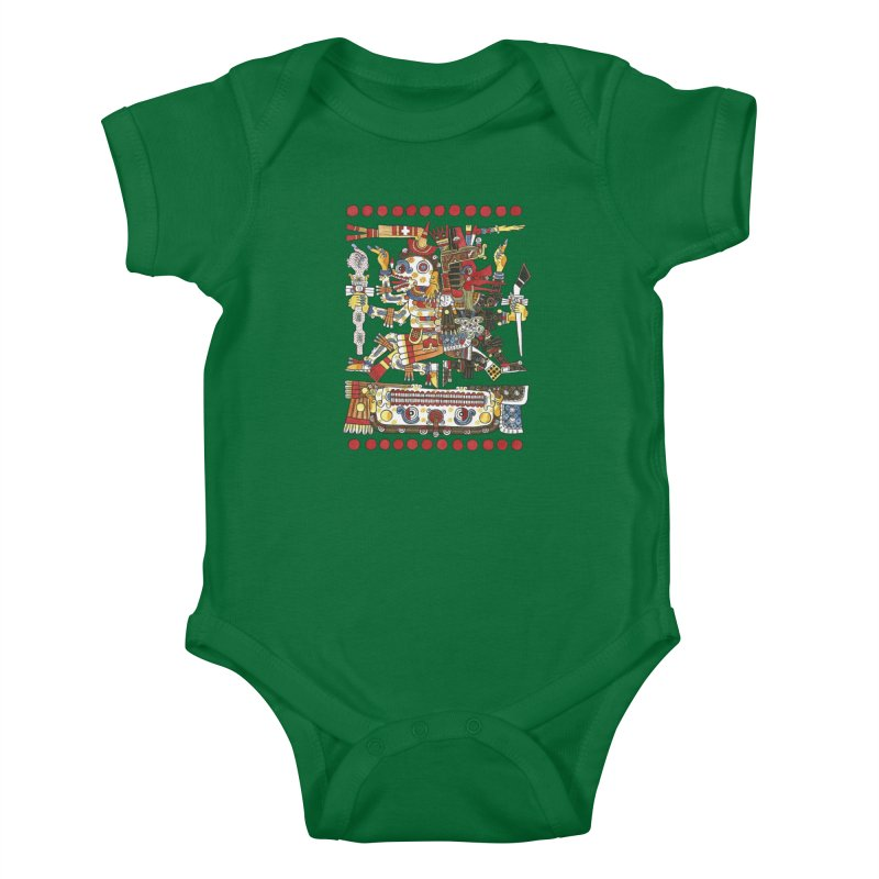 Codex Borgia Detail Kids Baby Bodysuit by Art On Everything