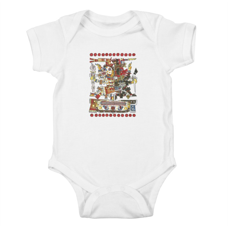 Codex Borgia Detail Kids Baby Bodysuit by Art On Everything