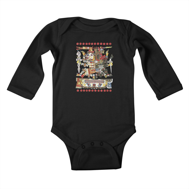 Codex Borgia Detail Kids Baby Longsleeve Bodysuit by Art On Everything
