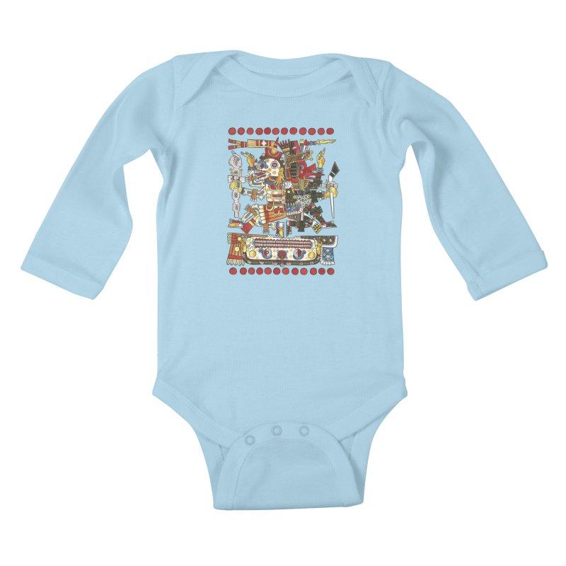 Codex Borgia Detail Kids Baby Longsleeve Bodysuit by Art On Everything