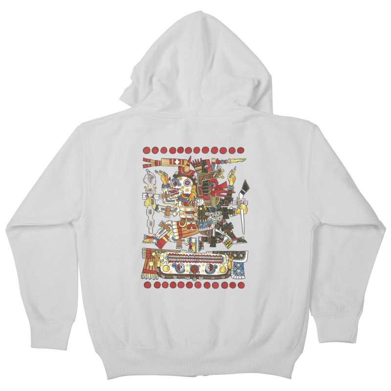Codex Borgia Detail Kids Zip-Up Hoody by Art On Everything