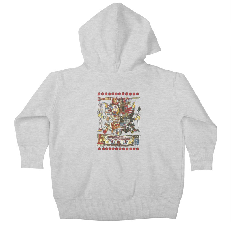 Codex Borgia Detail Kids Baby Zip-Up Hoody by Art On Everything