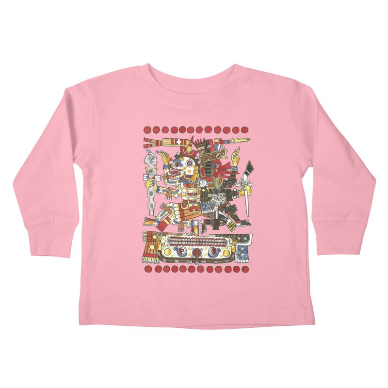 Codex Borgia Detail Kids Toddler Longsleeve T-Shirt by Art On Everything