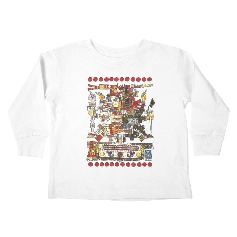Codex Borgia Detail Kids Toddler Longsleeve T-Shirt by Art On Everything