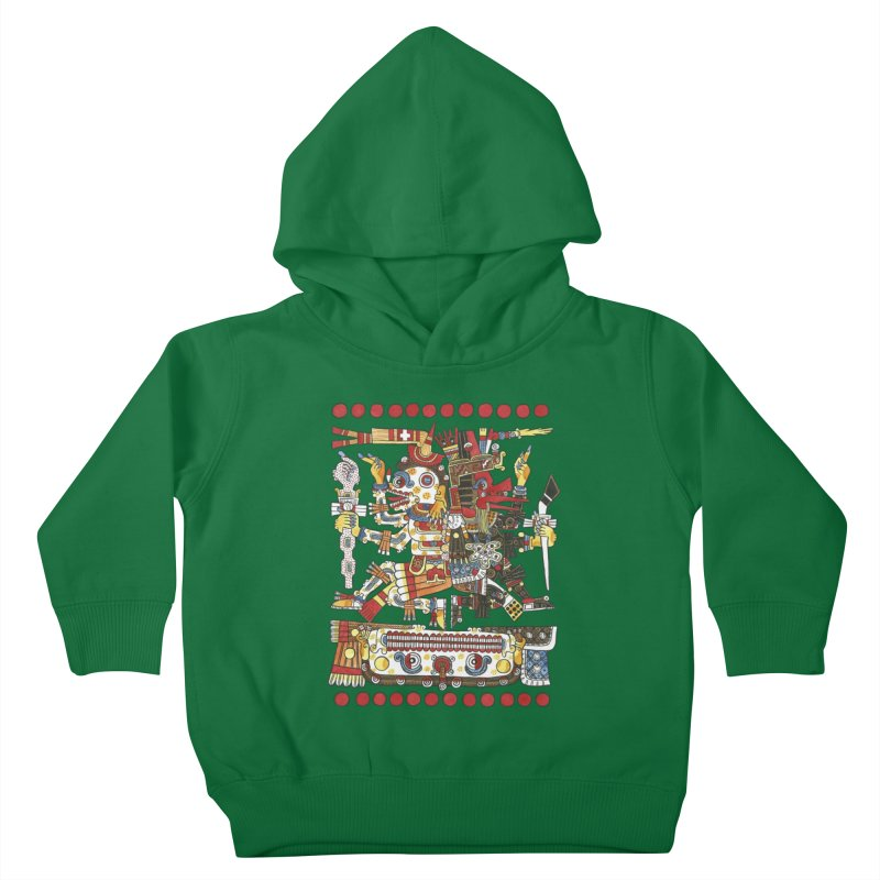 Codex Borgia Detail Kids Toddler Pullover Hoody by Art On Everything