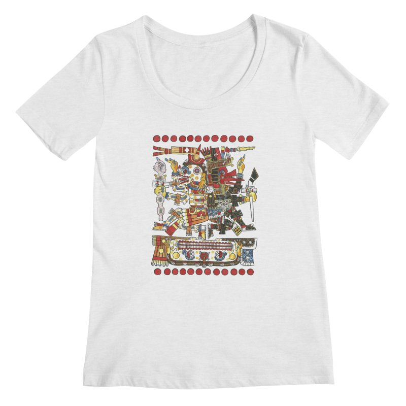 Codex Borgia Detail Women's Scoopneck by Art On Everything