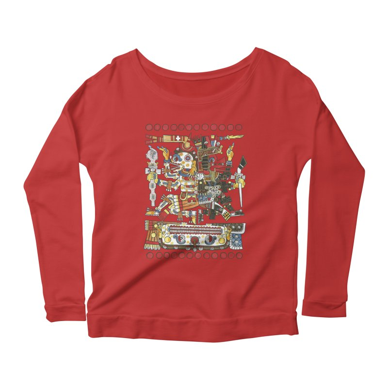 Codex Borgia Detail Women's Longsleeve Scoopneck  by Art On Everything