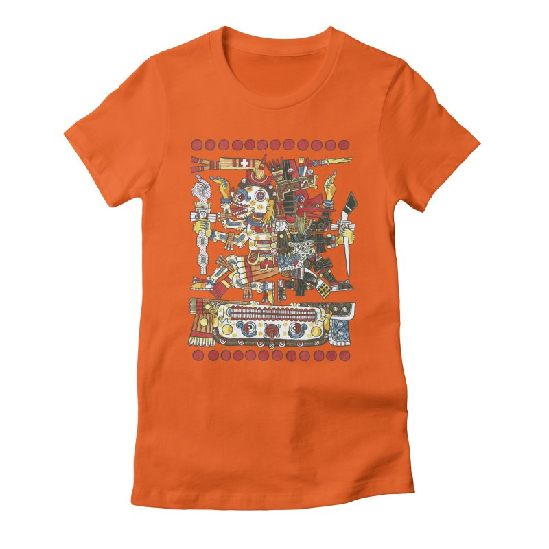 Codex Borgia Detail Women's Fitted T-Shirt by Art On Everything