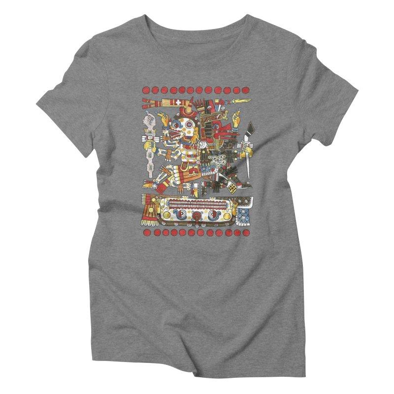 Codex Borgia Detail Women's Triblend T-Shirt by Art On Everything