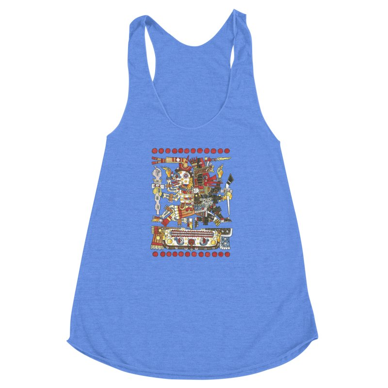 Codex Borgia Detail Women's Racerback Triblend Tank by Art On Everything