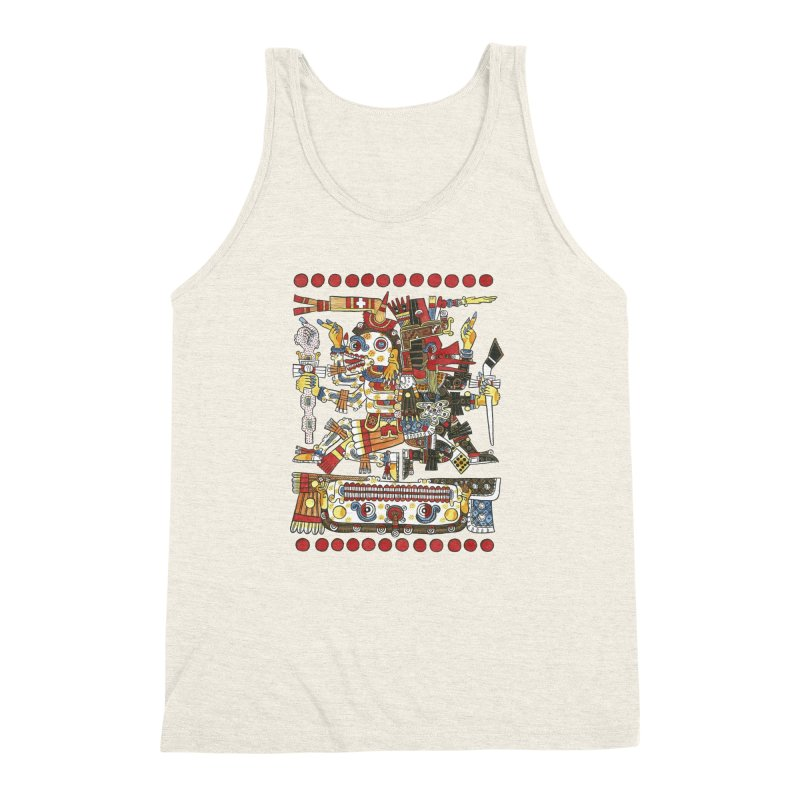 Codex Borgia Detail Men's Triblend Tank by Art On Everything