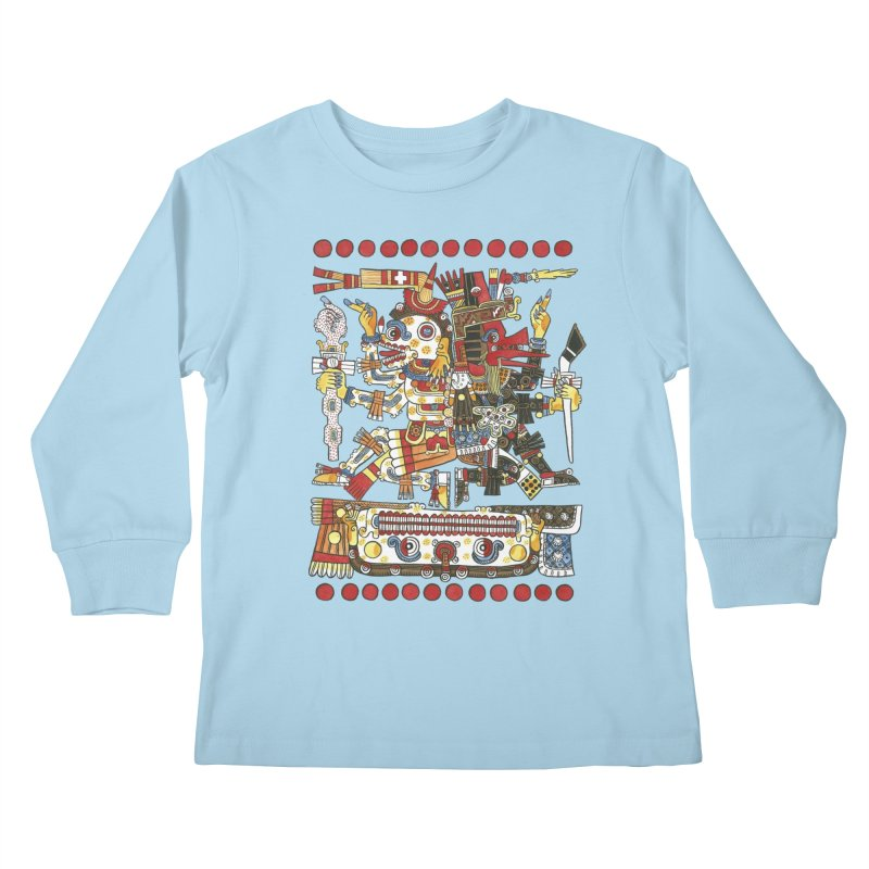 Codex Borgia Detail Kids Longsleeve T-Shirt by Art On Everything