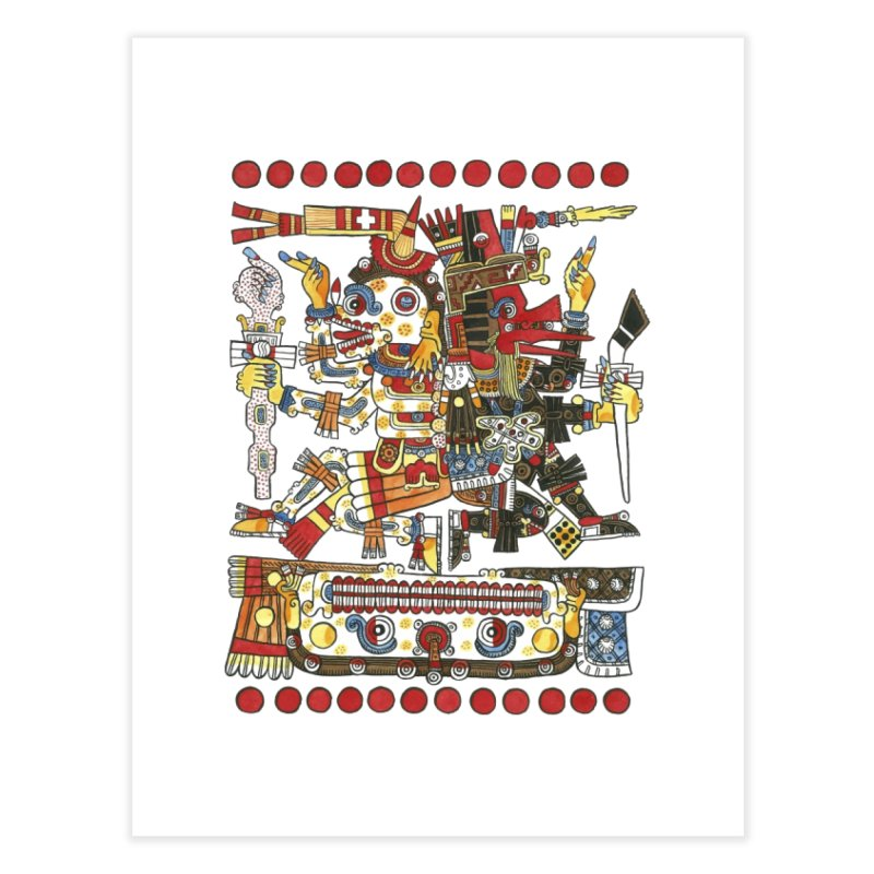Codex Borgia Detail Home Fine Art Print by Art On Everything