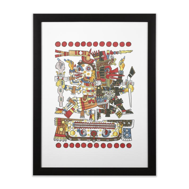 Codex Borgia Detail Home Framed Fine Art Print by Art On Everything
