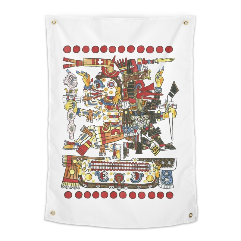 Codex Borgia Detail Home Tapestry by Art On Everything