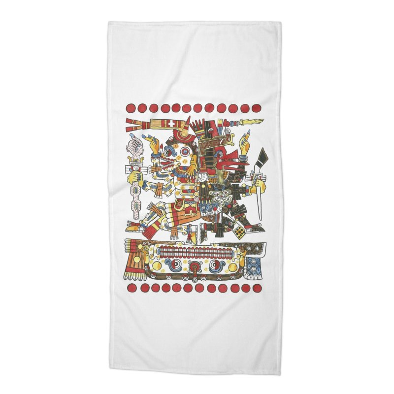 Codex Borgia Detail Accessories Beach Towel by Art On Everything