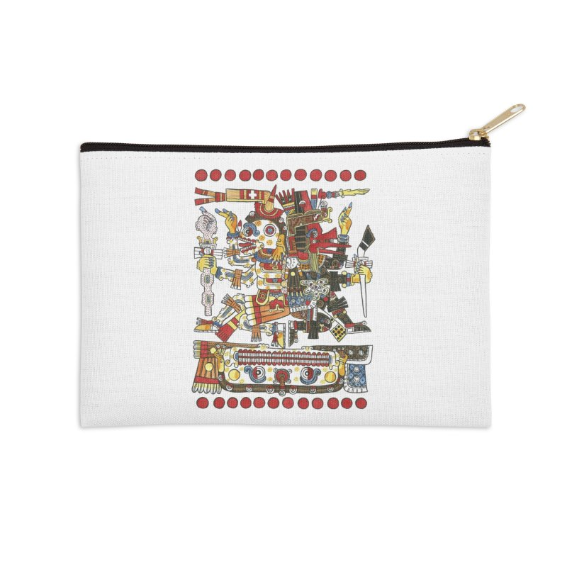 Codex Borgia Detail Accessories Zip Pouch by Art On Everything