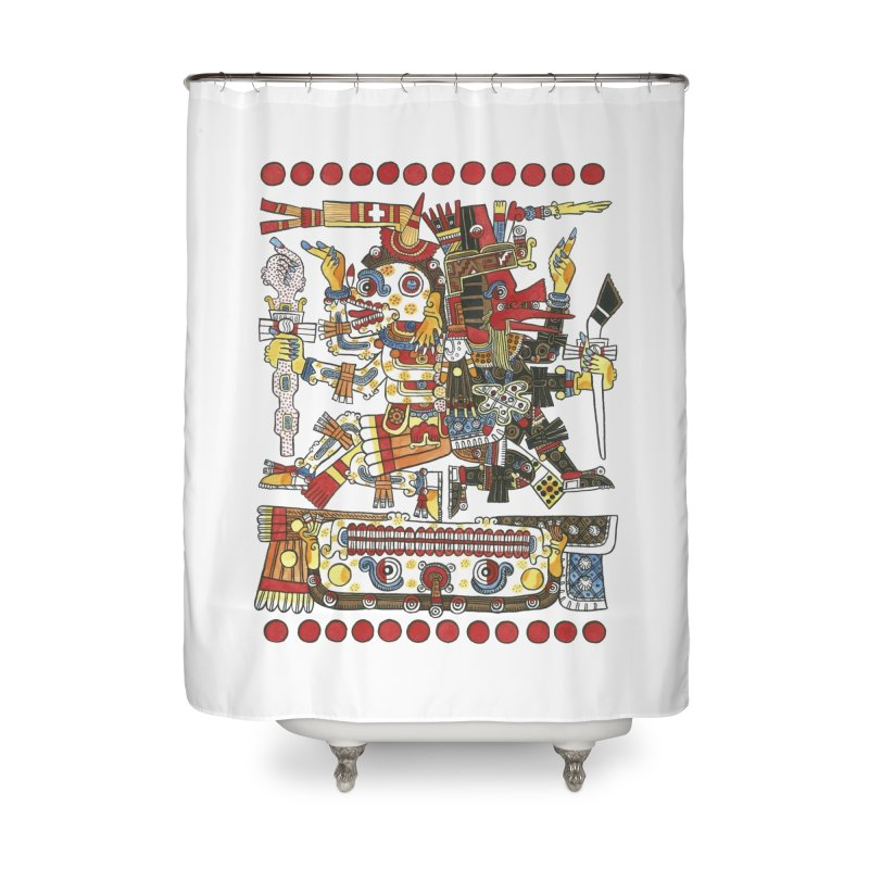 Codex Borgia Detail Home Shower Curtain by Art On Everything