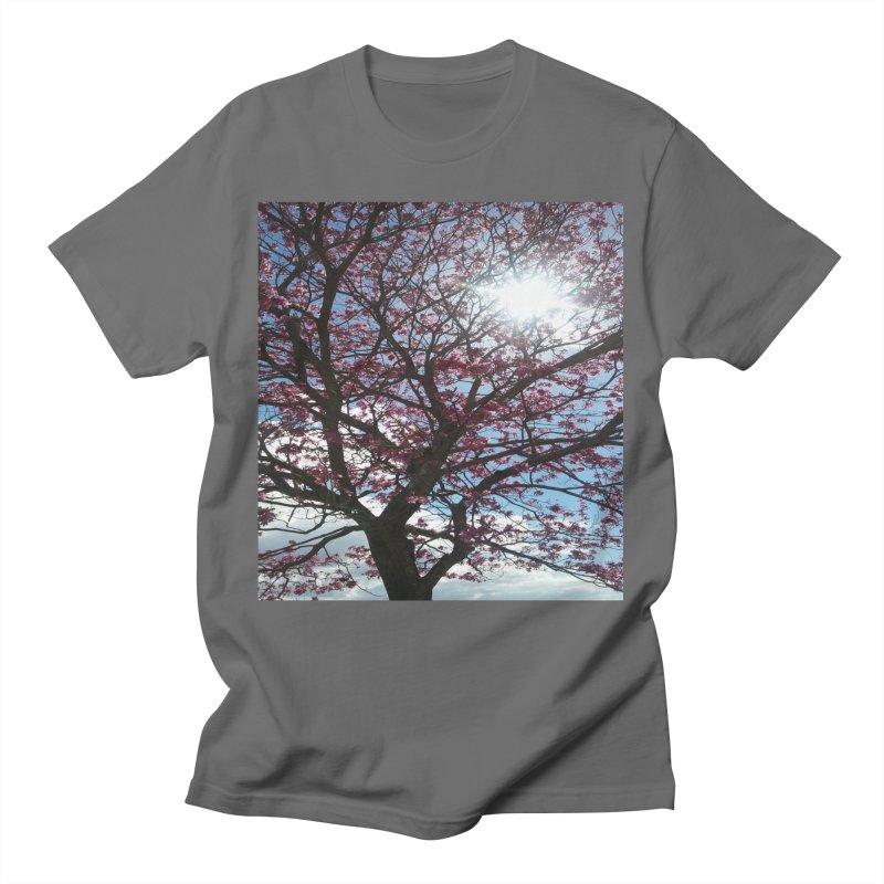 Pink Tree Shine Men's T-Shirt by ❁Art Peace Designs❁