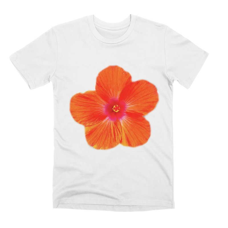 Hibiscus Orange Men's T-Shirt by ❁Art Peace Designs❁