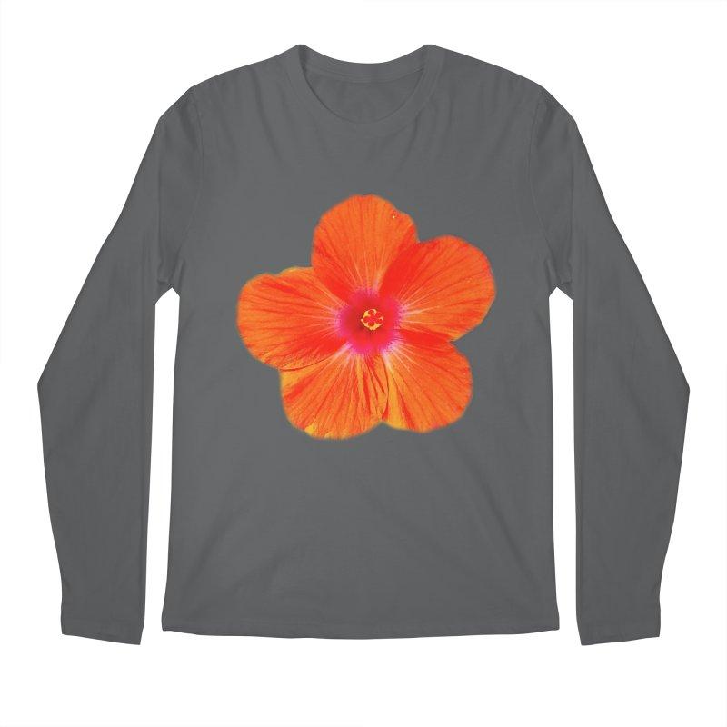 Hibiscus Orange Men's Longsleeve T-Shirt by ❁Art Peace Designs❁