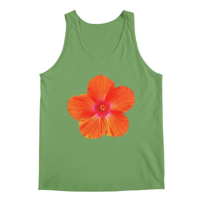 Hibiscus Orange Men's Tank by ❁Art Peace Designs❁