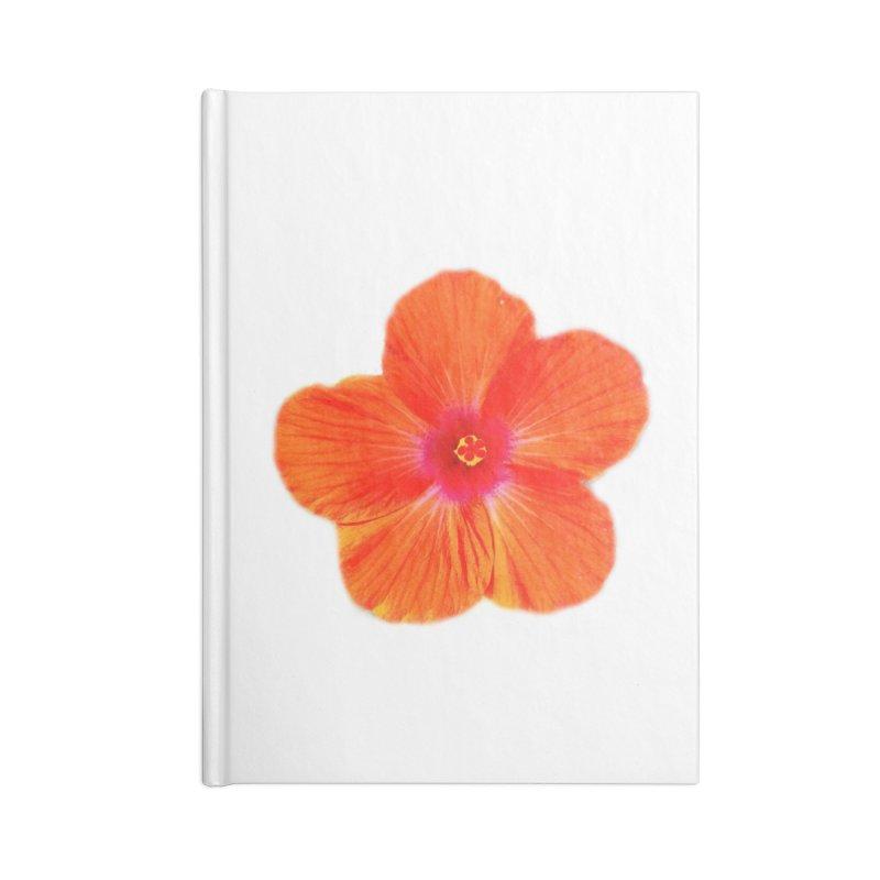 Hibiscus Orange Accessories Notebook by ❁Art Peace Designs❁