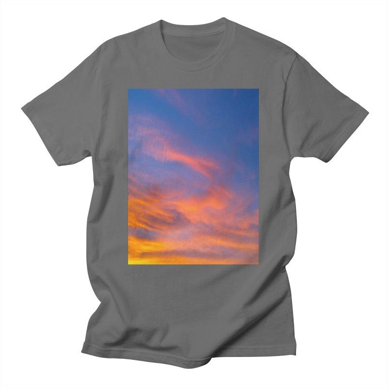 Tangerine Dream Sky Men's T-Shirt by ❁Art Peace Designs❁