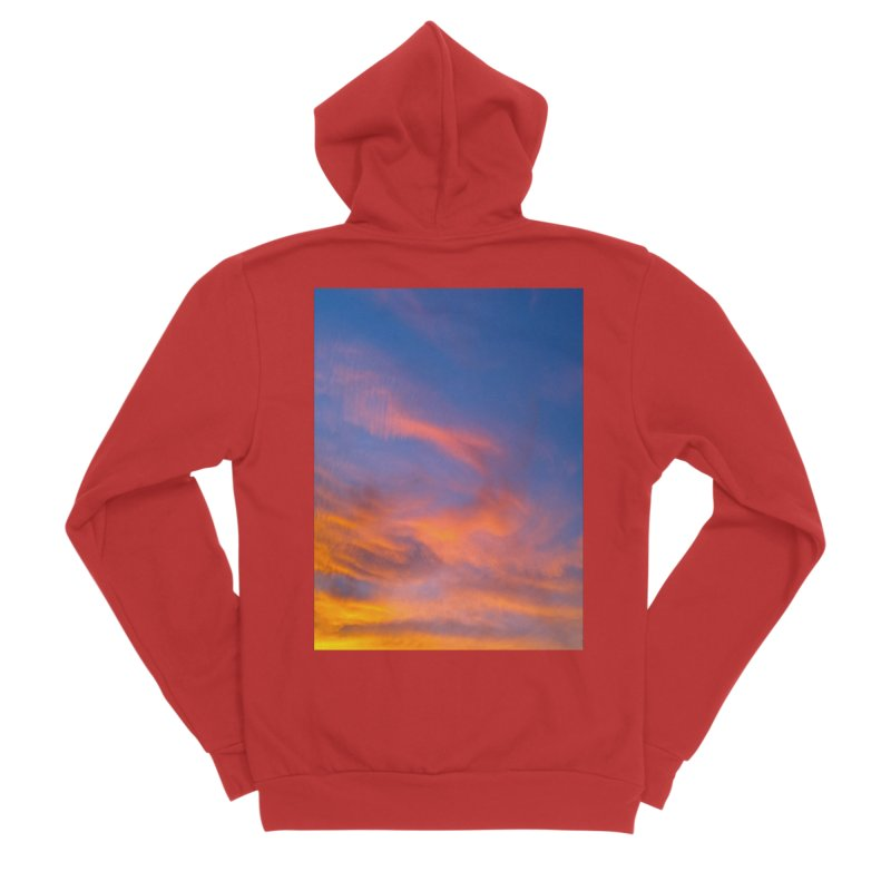 Tangerine Dream Sky Men's Zip-Up Hoody by ❁Art Peace Designs❁