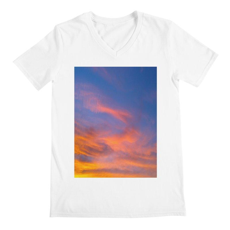 Tangerine Dream Sky Men's V-Neck by ❁Art Peace Designs❁