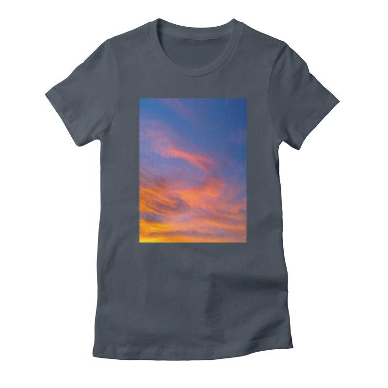 Tangerine Dream Sky Women's T-Shirt by ❁Art Peace Designs❁