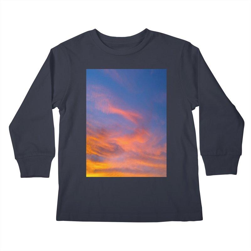 Tangerine Dream Sky Kids Longsleeve T-Shirt by ❁Art Peace Designs❁