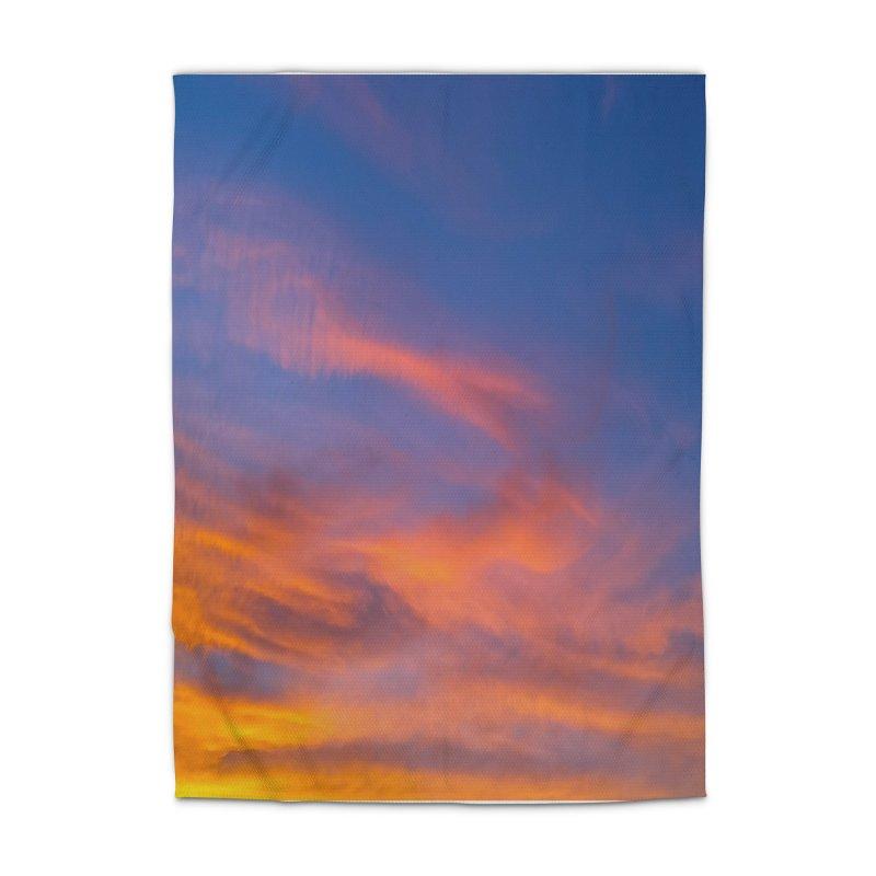 Tangerine Dream Sky Home Rug by ❁Art Peace Designs❁