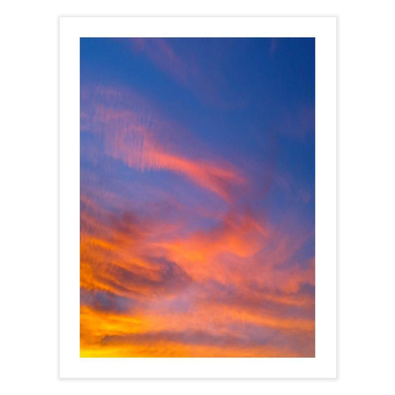 Tangerine Dream Sky Home Fine Art Print by ❁Art Peace Designs❁