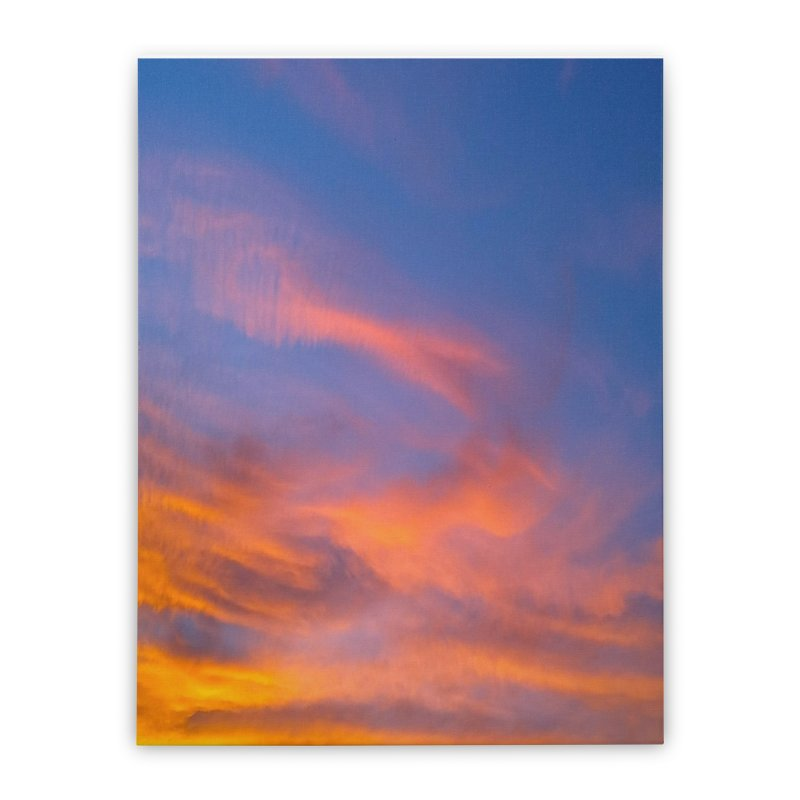 Tangerine Dream Sky Home Stretched Canvas by ❁Art Peace Designs❁