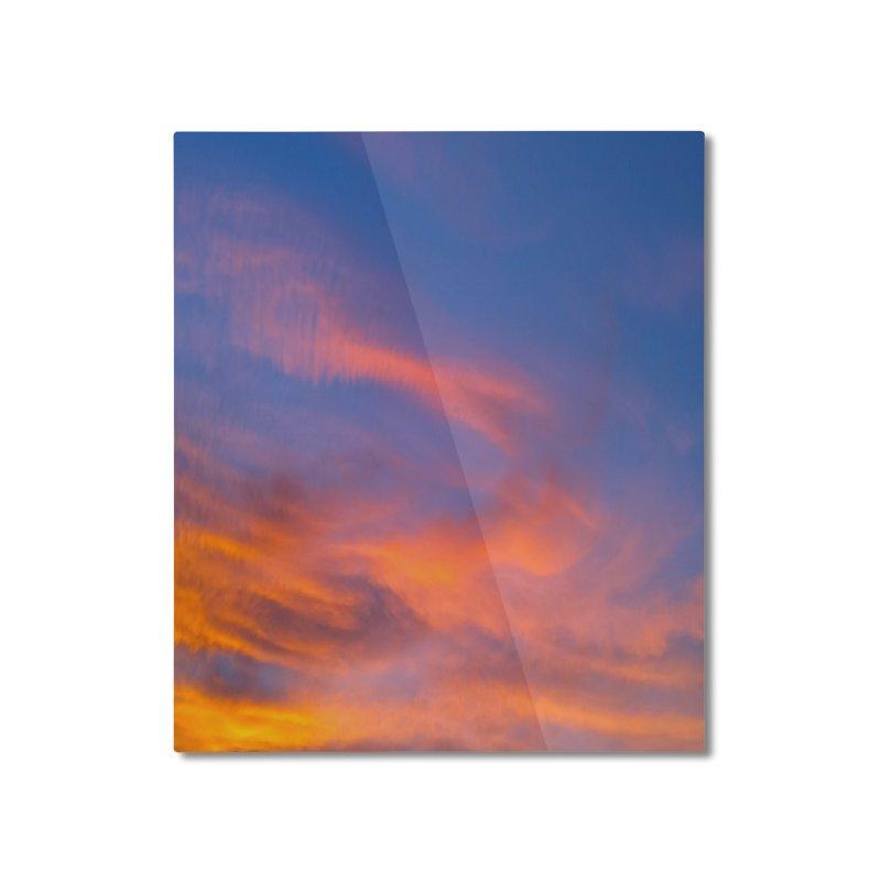 Tangerine Dream Sky Home Mounted Aluminum Print by ❁Art Peace Designs❁
