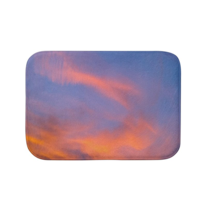 Tangerine Dream Sky Home Bath Mat by ❁Art Peace Designs❁