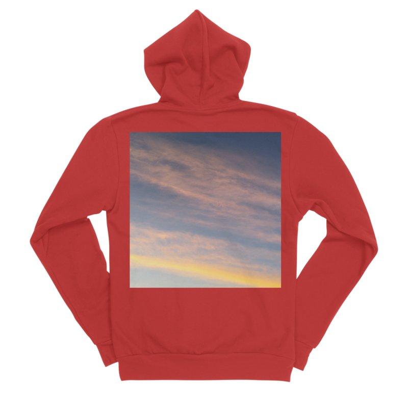 Blush Clouds Men's Zip-Up Hoody by ❁Art Peace Designs❁