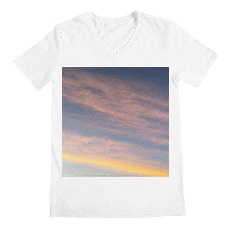 Blush Clouds Men's V-Neck by ❁Art Peace Designs❁
