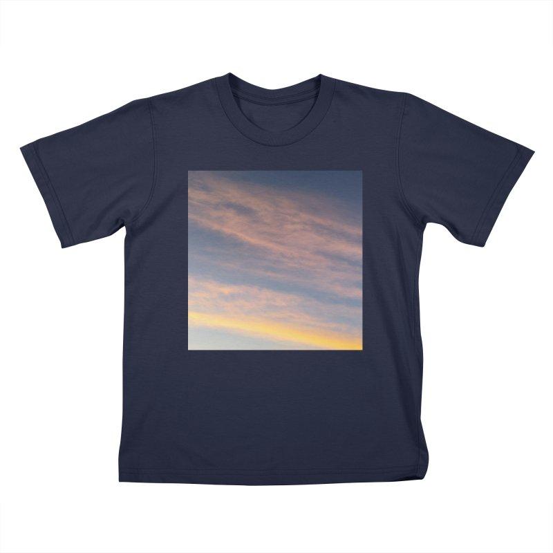 Blush Clouds Kids T-Shirt by ❁Art Peace Designs❁