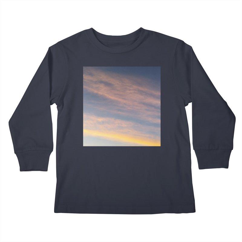 Blush Clouds Kids Longsleeve T-Shirt by ❁Art Peace Designs❁