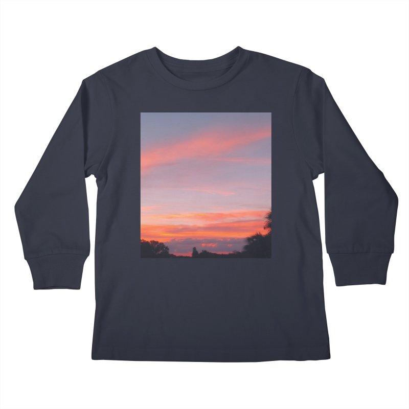Lavender Sky Kids Longsleeve T-Shirt by ❁Art Peace Designs❁
