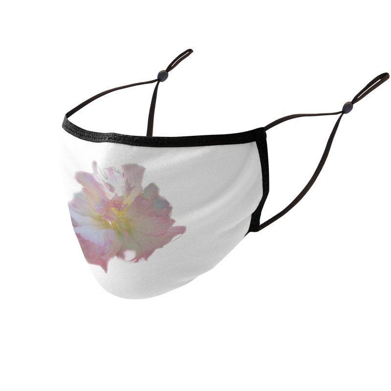 Pink Ruffle Hibiscus Accessories Face Mask by ❁Art Peace Designs❁
