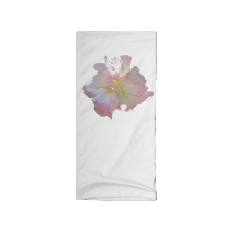 Pink Ruffle Hibiscus Accessories Neck Gaiter by ❁Art Peace Designs❁